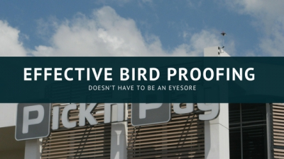 Effective Bird proofing doesn't have to be an eyesore